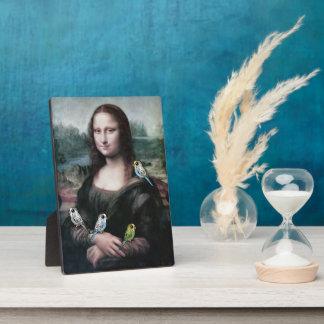 Mona Lisa & Budgies Plaque