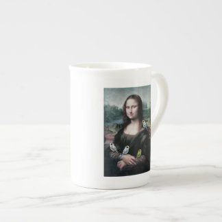 Mona Lisa & Budgies Tea Cup
