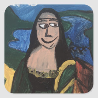 Mona Lisa by Joel Anderson Square Sticker