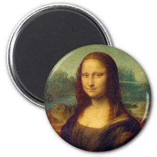 Mona Lisa by Leonardo da Vinci 2 Inch Round Magnet