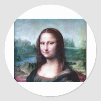 Mona Lisa by Leonardo da Vinci Classic Round Sticker