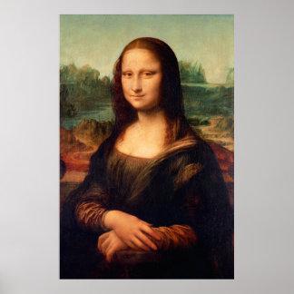 Mona Lisa by Leonardo Da Vinci - Restored Version Poster