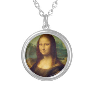 Mona Lisa by Leonardo da Vinci Silver Plated Necklace