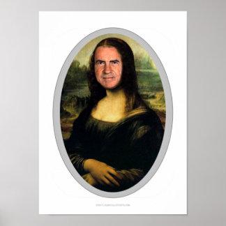 Mona Lisa Carnival Cutout Poster