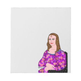 Mona Lisa Cartoon Image Notepads