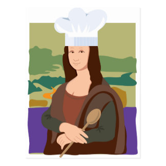 Mona Lisa Chef Postcard
