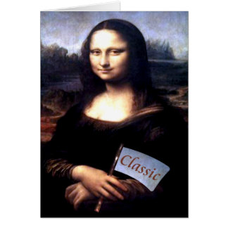 Mona Lisa Classic Birthday Gifts Card