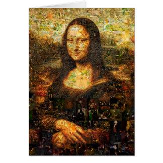 mona lisa collage - mona lisa mosaic - mona lisa card