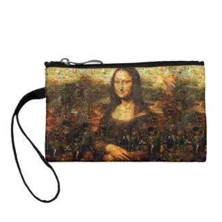 mona lisa collage - mona lisa mosaic - mona lisa coin purse