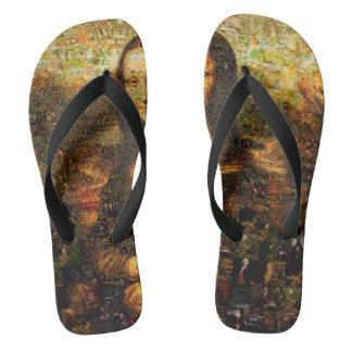mona lisa collage - mona lisa mosaic - mona lisa flip flops