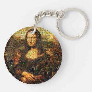 mona lisa collage - mona lisa mosaic - mona lisa keychain