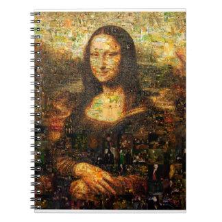 mona lisa collage - mona lisa mosaic - mona lisa notebook