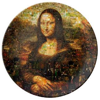 mona lisa collage - mona lisa mosaic - mona lisa plate
