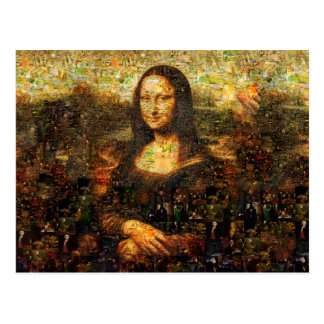 mona lisa collage - mona lisa mosaic - mona lisa postcard