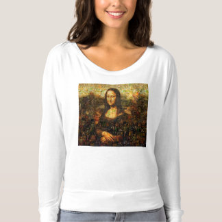 mona lisa collage - mona lisa mosaic - mona lisa t-shirt