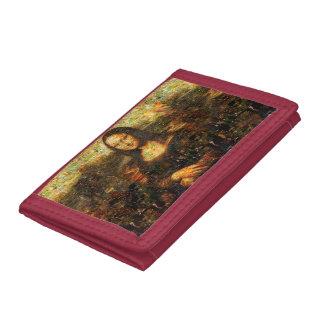 mona lisa collage - mona lisa mosaic - mona lisa trifold wallet