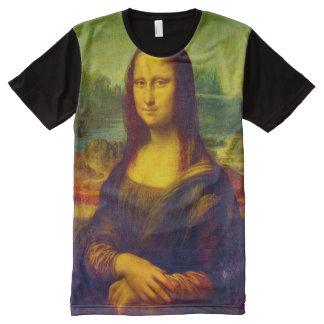 Mona Lisa Color Portrait All-Over-Print T-Shirt