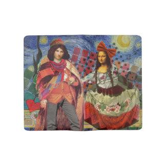 Mona Lisa Colorful Romance Large Moleskine Notebook