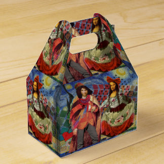 Mona Lisa Colorful Romance Party Favor Boxes