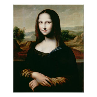 Mona Lisa, copy of the painting by Leonardo da Vin Poster