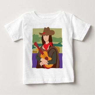 Mona Lisa Cowgirl Baby T-Shirt