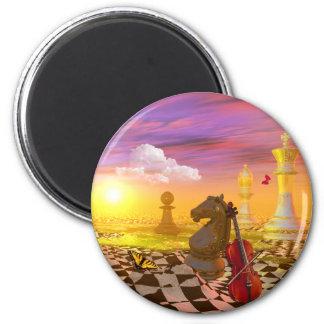 Mona Lisa da vinci surrealism 2 Inch Round Magnet