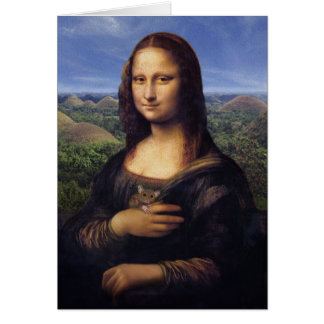 Mona Lisa de Bohol Card