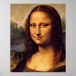 Mona Lisa detail by Leonardo da Vinci Poster