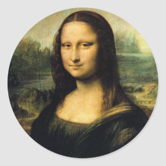 Mona Lisa - Dinner Plates for sale Classic Round Sticker