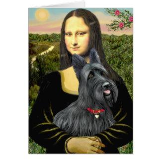 Mona Lisa - écossaise Terrier #1 Carte De Vœux