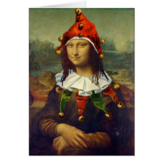 Mona Lisa Elf Christmas Card
