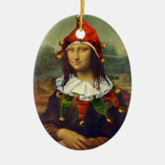 Mona Lisa Elf Christmas Ornament