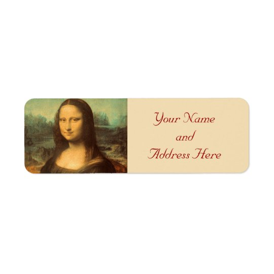 Mona Lisa Fine Art Return Address Labels