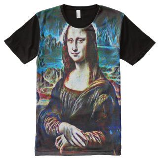 Mona Lisa Ghost Color Portrait All-Over-Print T-Shirt
