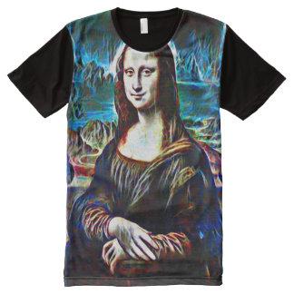 Mona Lisa Ghost Portrait All-Over-Print T-Shirt