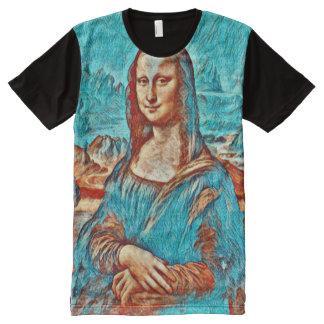 Mona Lisa Gogh Version Portrait All-Over-Print T-Shirt