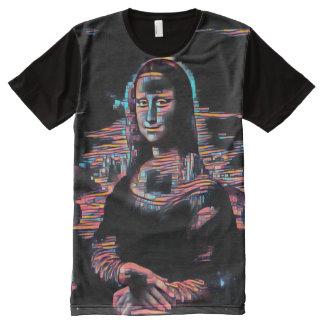 Mona Lisa Hacktivist Oil Portrait All-Over-Print T-Shirt