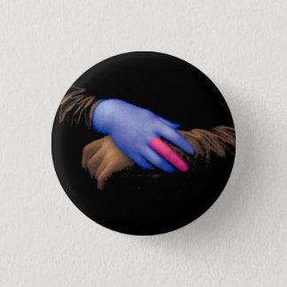 Mona Lisa hands by Fred Wilder 1 Inch Round Button
