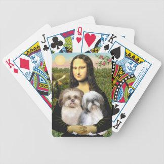 Mona Lisa & her Two Shih Tzus Poker Deck