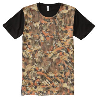 Mona Lisa Hidden Camo All-Over-Print T-Shirt