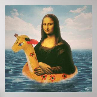 Mona Lisa Holiday Poster