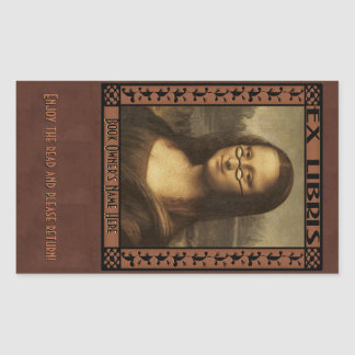 Mona Lisa in Reading Glasses (Personalized) Sticker