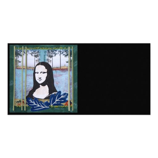 Mona Lisa in the Country Customized Photo Card