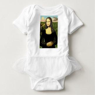 Mona Lisa - insert a pet (#2) Baby Bodysuit