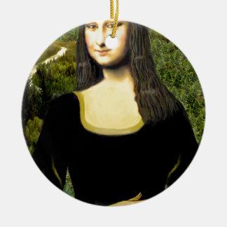 Mona Lisa - insert a pet (#2) Ceramic Ornament