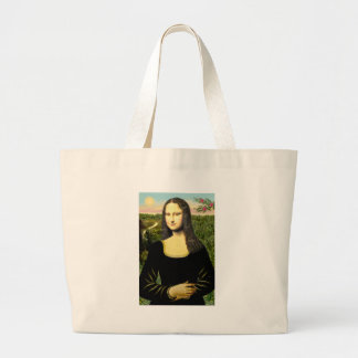 Mona Lisa - insert a pet (#2) Large Tote Bag