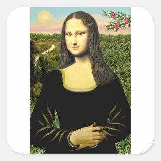 Mona Lisa - insert a pet (#2) Square Sticker