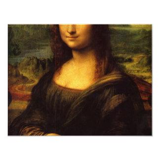 Mona Lisa 4.25x5.5 Paper Invitation Card