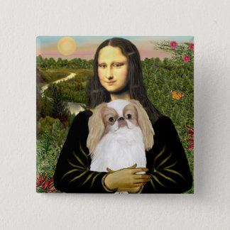 Mona Lisa - Japanese Chin (L1) 2 Inch Square Button
