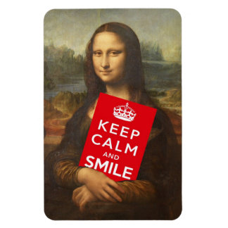 Mona Lisa Keep Calm And Smile Magnet